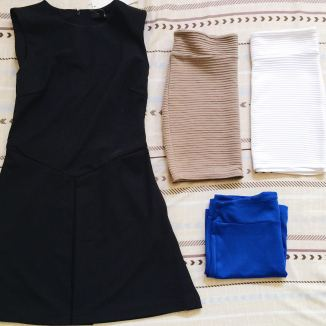 1 dress, 3 skirts