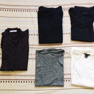 1 shirt, 4 tops